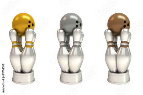 Bowlingpreise gold, silber, bronze