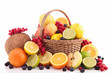 wicker basket with fruits