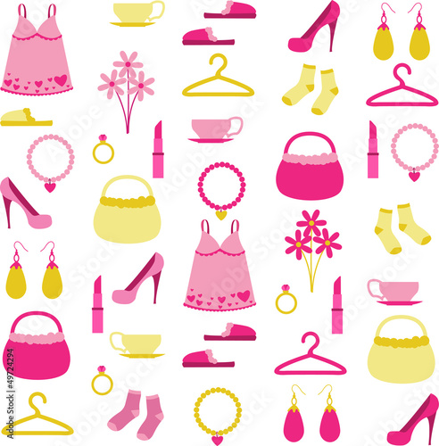 Collection of woman's accessories