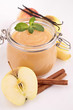 pot with applesauce