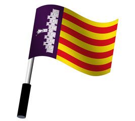 Flagge Mallorca wehend