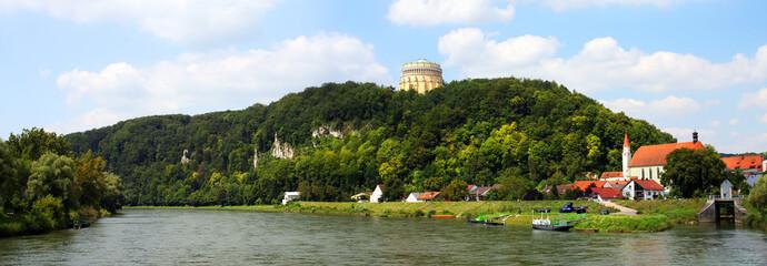 The Danube River in The Kelheim, Bavaria, Germany.