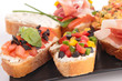 assortment of bruschettas