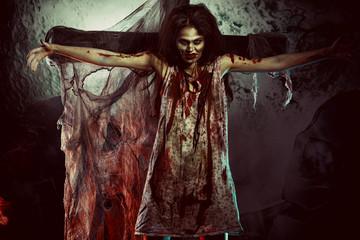 creepy woman