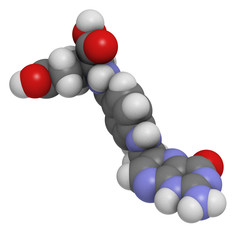Vitamin B9 (folic acid) molecule