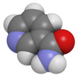 Vitamin B3 (niacinamide, nicotinic acid amide), molecule