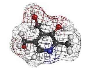 Vitamin B6 (pyridoxine) molecule