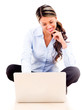 Businesswoman working online