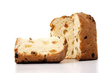 Panettone and slice