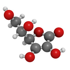 Vitamin C (ascorbic acid) molecule