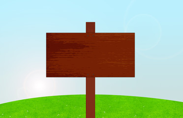 panneau en bois à la campagne