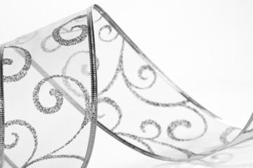Black and white ribbon spiral