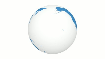 World 3d, Planet, Earth, Globe Rotation 360° Loop