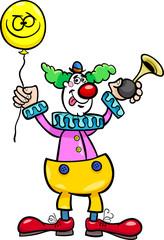 funny clown cartoon illustration