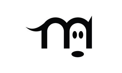 Logo petit chien noir