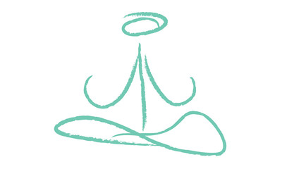 Yoga logo simple bleu