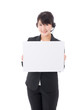 a young businesswoman with whiteboard