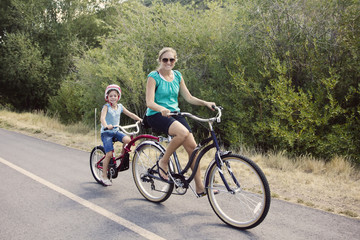 Enjoying A Family Bike Ride