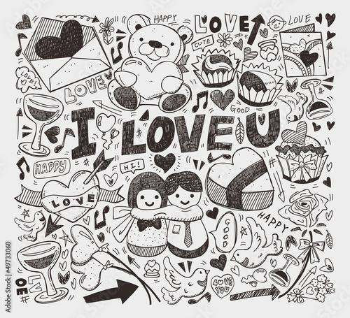 doodle love element