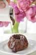 Mohr im Hemd, Schokoladenkuchen mit Schokosauce