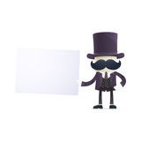 funny cartoon illusionist