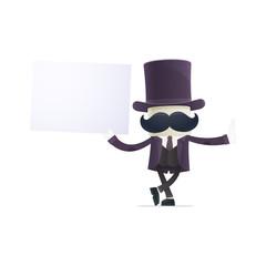 funny cartoon illusionist