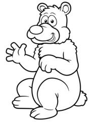 illustration of Cartoon bear - Coloring book