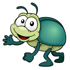 illustration of cartoon bug