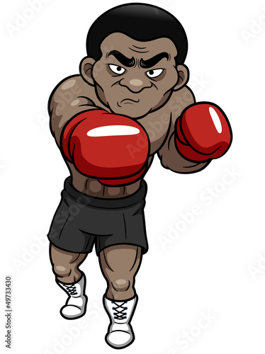 illustration of Cartoon boxer