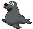 illustration of Cartoon seal