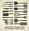 Vector Set: Kitchen Utensils in Vintage Style - 49733677
