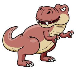 illustration of cartoon dinosaur