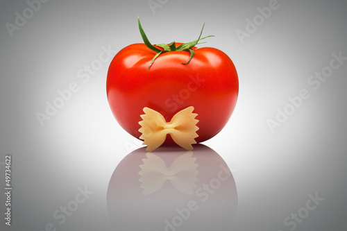 Quite an imposing sir tomato.