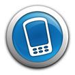 smartphone sur bouton bleu