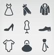 Fashion icon set