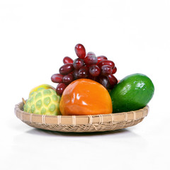 fresh fruit isolated on white, Vietnam fruits isolated on white