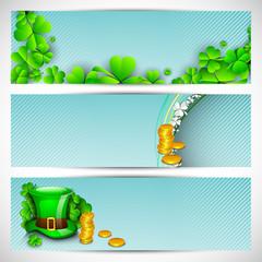 Website header or banner set for St. Patrick's Day celebration w