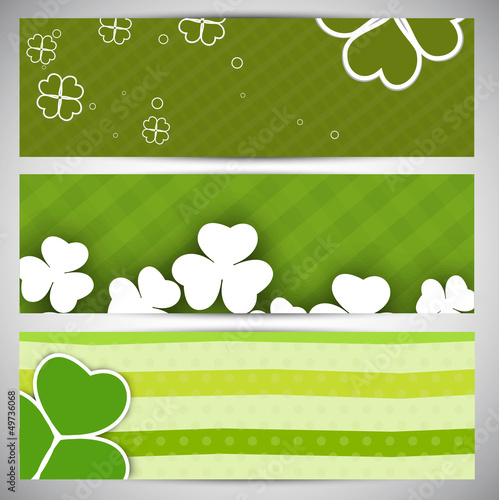 Website header or banner set for St. Patrick's Day celebration.