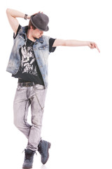 dancer in michael jackson pose
