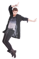 skilled male dancer in a pose