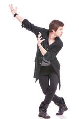 dancer in cross legged pose