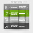 infographic green row