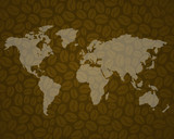 coffee background 3 with world map
