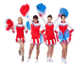 Group of young cheerleaders