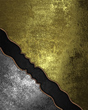Gold grunge background with black neckline and angle iron poster