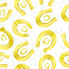 Horseshoes seamless pattern.