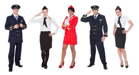 Flight crew members, pilots, stewardesses