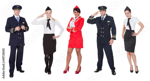 Flight crew members, pilots, stewardesses