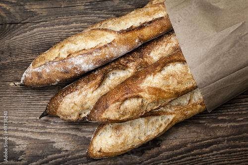 In de dag Brood Baguettes bread