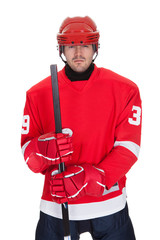 Portrait of professional hockey player